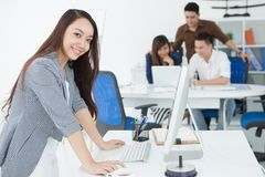 Networking at office Stock Photo