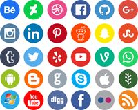 Networking ogólnospołeczni medialni apps Obrazy Royalty Free