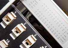 Networking patch panel Royalty Free Stock Photo