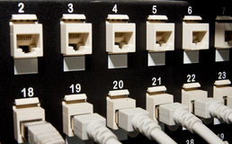 Networking patch panels Royalty Free Stock Images