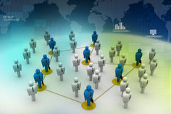 Networking people Royalty Free Stock Image