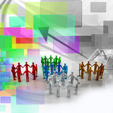 Networking people Stock Image