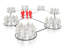 Networking People royalty free illustration