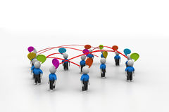 Networking people. In white color background Stock Images