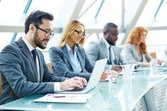 Networking przy konferencją zdjęcia stock
