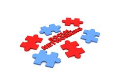 Networking puzzle Stock Photos
