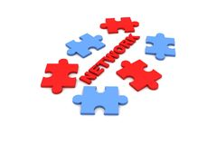 Networking puzzle Stock Images