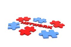 Networking puzzle Stock Photo