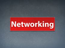 Networking Red Banner Abstract Background. Networking Isolated on Red Banner Abstract Background illustration Design royalty free illustration