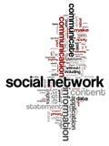 networking słowa fotografia stock
