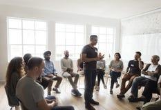 Networking Seminaryjny spotkanie Podnosi pojęcie zdjęcie stock