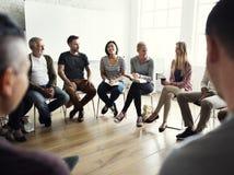 Networking Seminaryjny spotkanie Podnosi pojęcie fotografia royalty free