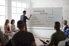 Networking Seminaryjny spotkanie Podnosi pojęcie obrazy stock