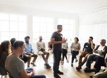 Networking Seminaryjny spotkanie Podnosi pojęcie fotografia stock