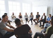 Networking Seminaryjny spotkanie Podnosi pojęcie obrazy royalty free