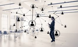 Networking and social communication concept as effective point for modern business stock image