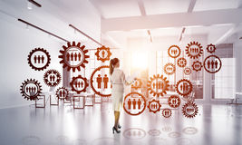 Networking and social communication concept as effective point for modern business Stock Images