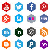 Networking social media icons royalty free illustration