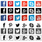 Networking social media png 3D flat. Icons are avilable with vectors Stock Photography