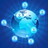 networking socjalny royalty ilustracja