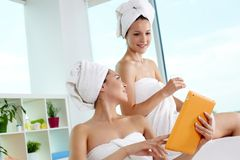 Networking in spa salon Stock Photos