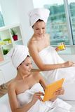 Networking in spa salon Stock Image