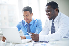 Networking in team Royalty Free Stock Image