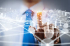 Networking technologies and social interaction Stock Photography