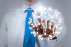 Networking technologies and social interaction Royalty Free Stock Images