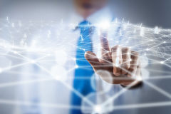 Networking technologies and social interaction Stock Photos