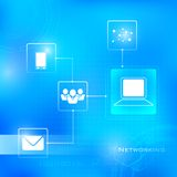 Networking Technology Background Stock Photography