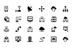 Networking Vector Icons 1 Stock Photography