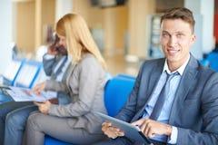 Networking w lotnisku Obraz Stock