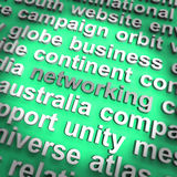 Networking Word Showing Relationships And Computer Communication Royalty Free Stock Image