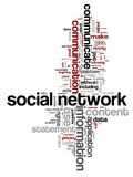 Networking words Stock Photography
