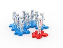 Networking, związek, ogólnospołeczne sieci, komunikacje, lider, przywódctwo pojęcie 3 d czynią royalty ilustracja