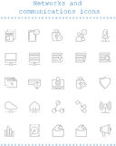 Networks and communications icons Stock Photography