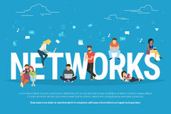 Networks concept illustration Stock Photography
