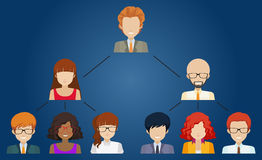 Networks of different individuals Royalty Free Stock Photos