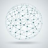 Networks, global connections. Illustration Royalty Free Stock Photography