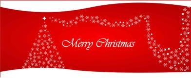 Netzüberschrift der frohen Weihnachten lizenzfreie stockfotografie