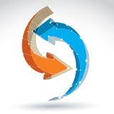 Netz-Aktualisierungszeichen der Masche 3d stilvolles Stockfotos