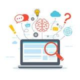 Netz-Analytik und Informationen SEO Optimierung Stockfoto