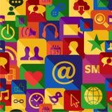 Netz apps Mustersatz Lizenzfreie Stockfotografie
