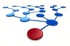 Netz auf weißem Hintergrund lizenzfreie abbildung