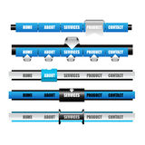 Netz-Barkarte mit Knopf für Website Stockbilder