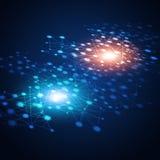 Netz-Blau-Hintergrund Lizenzfreie Stockfotos