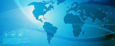 Netz, blauer Hintergrund 2 Lizenzfreie Stockfotos