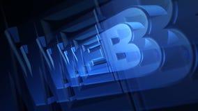 NETZ 3D Blau-Text lizenzfreie abbildung