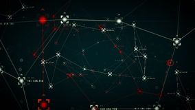 Netz-Daten-Punkt-blaues heißes